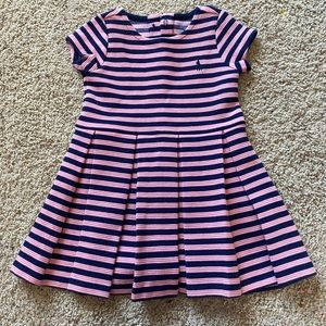 Ralph Lauren Babygirl Navy&Pink Striped Dress